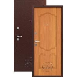 Дверь входная Сибирь S-1/1(медь-милан орех), 2 замка, сталь 1,0 мм.