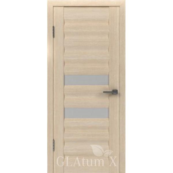 Дверь GreenLine X-21, капучино, стекло белое.