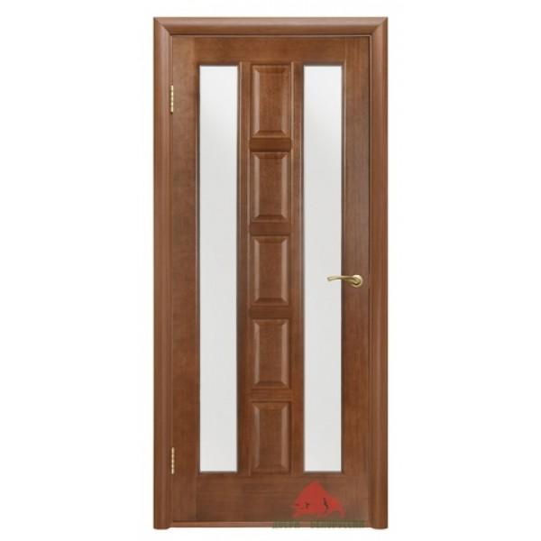Дверь шпонированная, Квадро, Каштан. ПО.