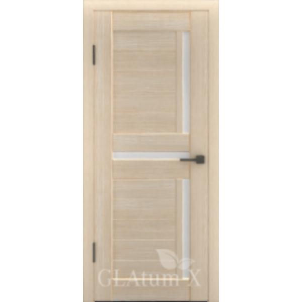 Дверь GreenLine X-16, капучино, стекло белое.
