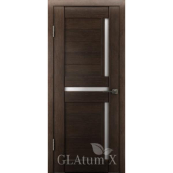 Дверь GreenLine X-16, венге, стекло белое.