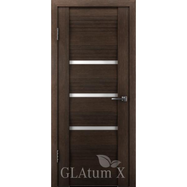 Дверь GreenLine X-31, венге, стекло белое.