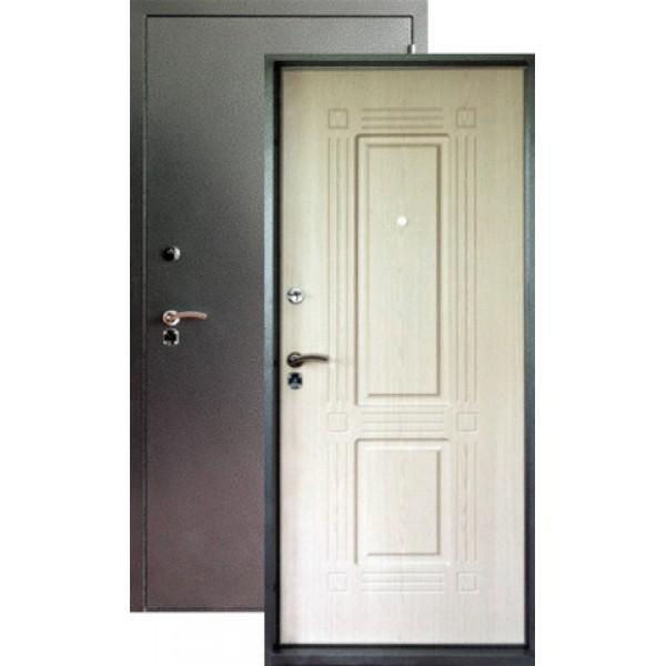 Дверь стальная Форт Б-7(серебро-дуб белёный), сталь 1,8мм, 2 замка.
