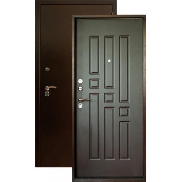 Дверь стальная Форт Б-6(медь-венге),2 замка, сталь 1,8мм.