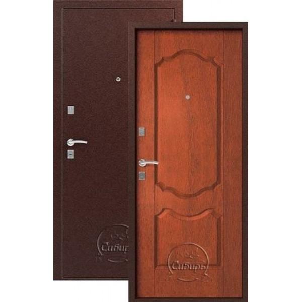 Дверь стальная Форт Б-11(медь-орех),2 замка, сталь 1,8мм.