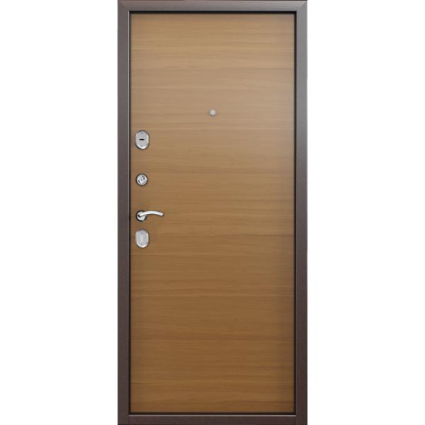 Дверь стальная Торекс Delta 05 (медь-орех), 2 замка сталь 1,5 мм.