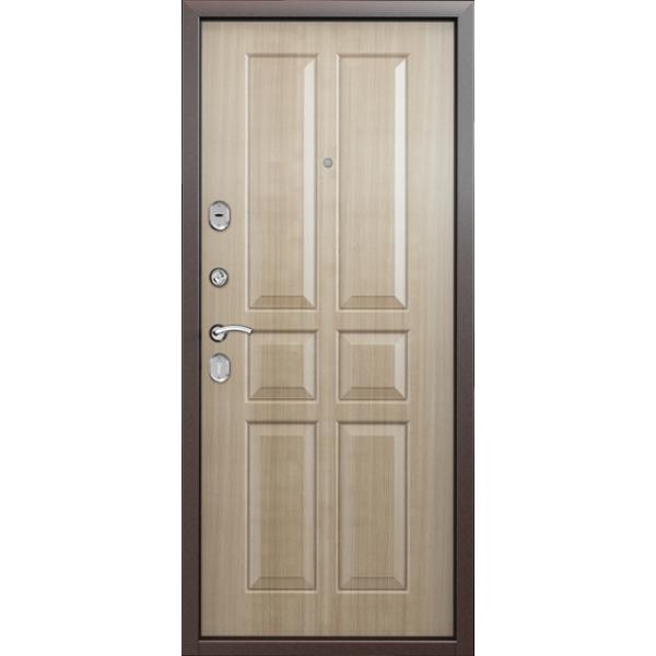 Дверь стальная Торекс Delta 07 (медь-венге светлый), 2 замка сталь 1,5 мм.