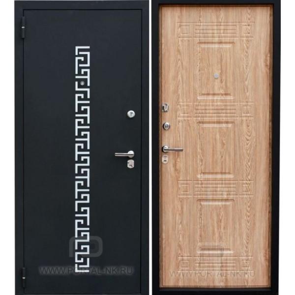 Дверь стальная ЗЕВС Z-5(черный шёлк-ель карпатская), 2 замка сталь 1,5 мм.