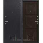 Дверь стальная ЗЕВС Z-4(серебро-венге шёлк), 2 замка сталь 1,5 мм.