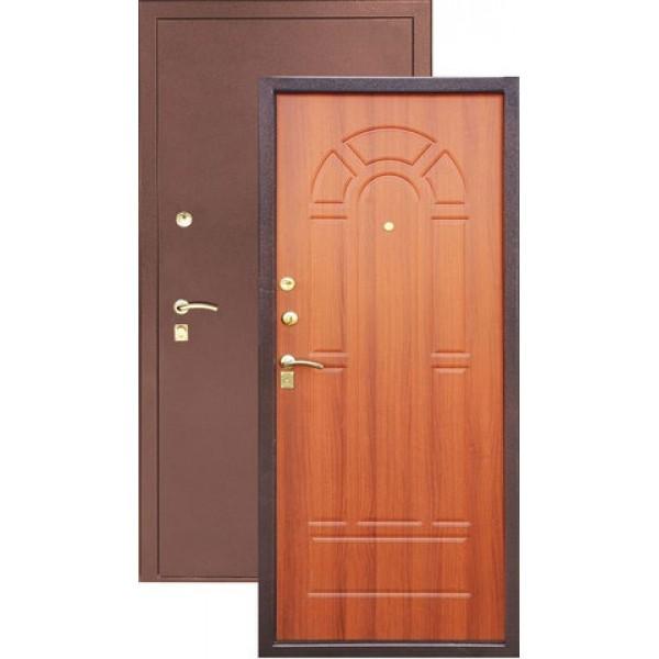 Дверь стальная ЗЕВС Z-4(медь-итал орех), 2 замка сталь 1,5 мм.