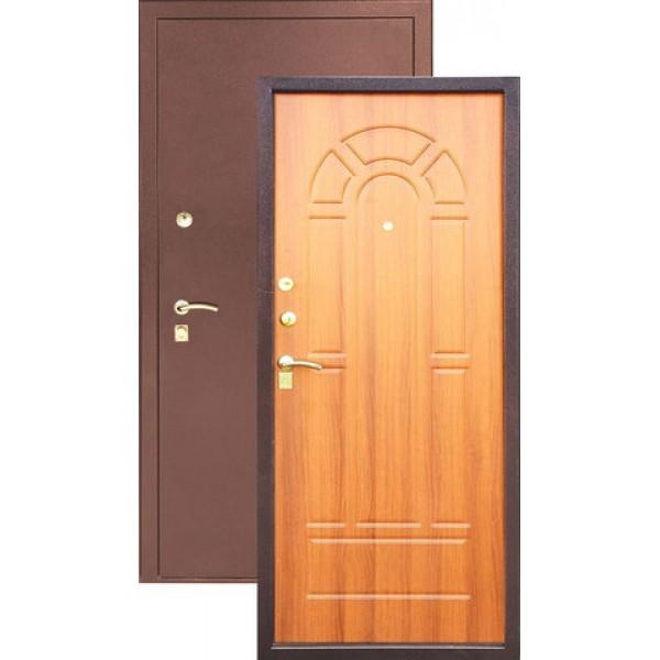 Дверь стальная ЗЕВС Z-4(медь-милан орех), 2 замка сталь 1,5 мм.