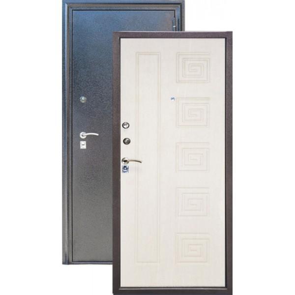 Дверь стальная ЗЕВС Z-4(серебро-дуб млечный), 2 замка сталь 1,5 мм.