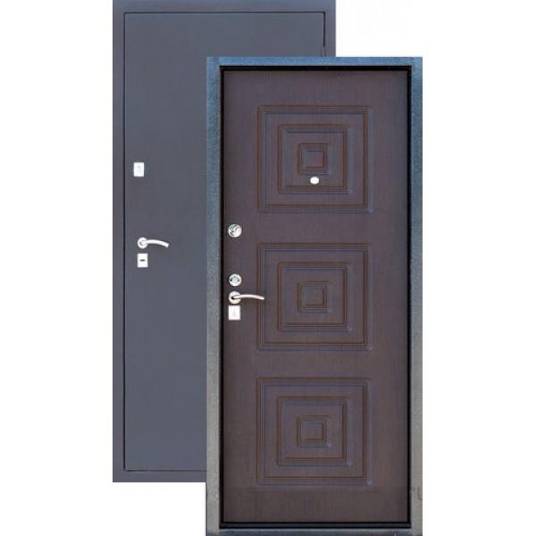 Дверь стальная ЗЕВС Z-4(серебро-венге), 2 замка сталь 1,5 мм.