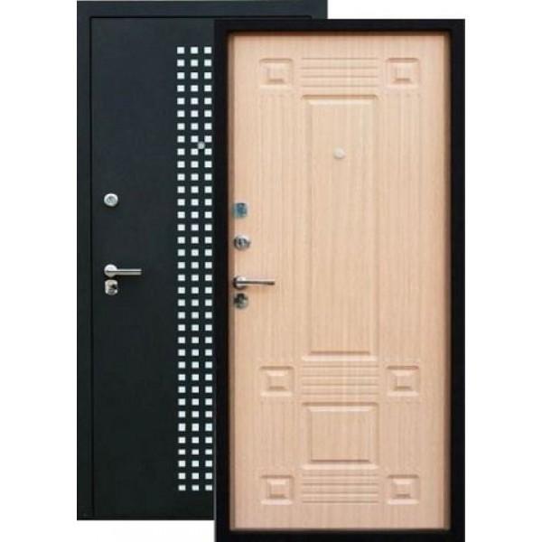 Дверь стальная ЗЕВС Z-5(черный шёлк-венге светлый), 2 замка сталь 1,5 мм.