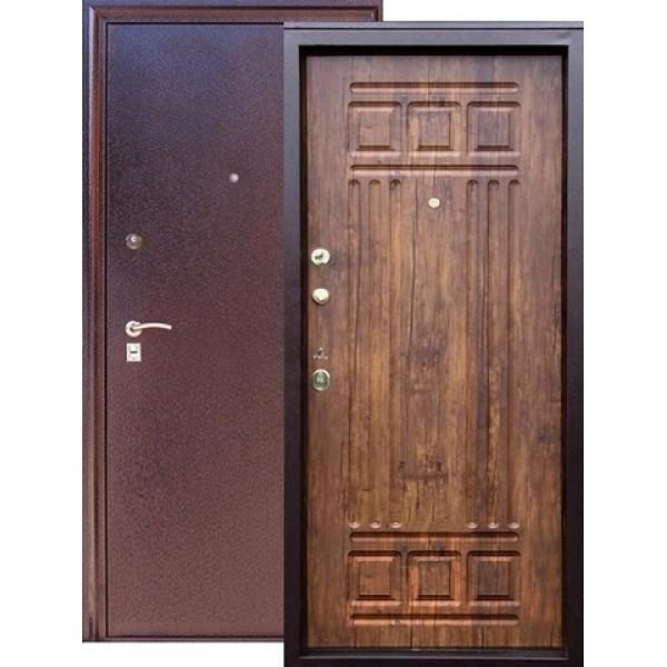 Дверь стальная ЗЕВС Z-4(медь-дуб антик), 2 замка сталь 1,5 мм.