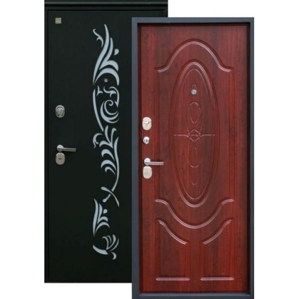 Дверь стальная ЗЕВС Z-7(черный шёлк-махагон), 2 замка сталь 2,0 мм.