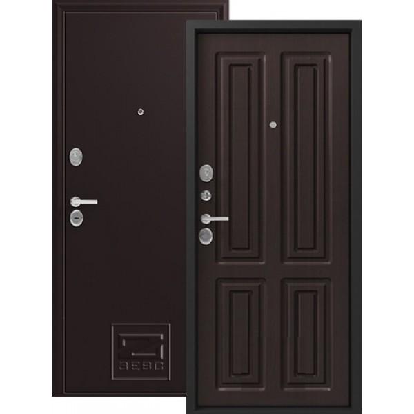 Дверь стальная ЗЕВС Z-6(шёлк бордо-венге шёлк), сталь 1,8 мм,2 замка