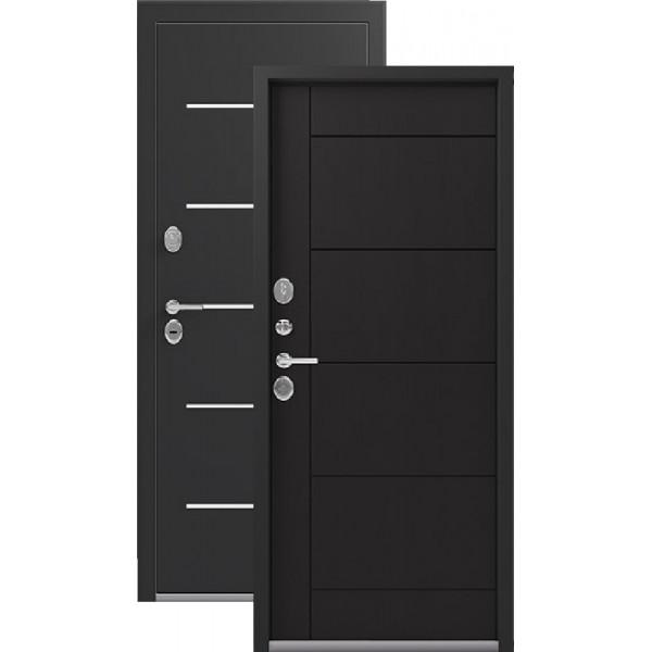 Дверь стальная Легион L-2(чёрный шёлк-венге) толщина полотна 95мм. тройной притвор,  сталь 1,5 мм, 2 замка.
